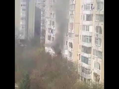В многоэтажном доме на улице 50 лет ВЛКСМ в Ставрополе произошёл пожар. Видео