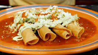 The Best Chicken Rolled Tacos | Mexican Style crispy rolled tacos