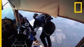실제 스카이다이빙 사고 3초 전 영상