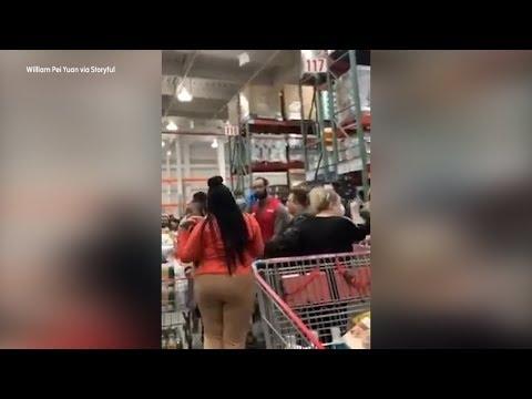 Video: Coronavirus Tensions Erupt Among Shoppers At Brooklyn Costco