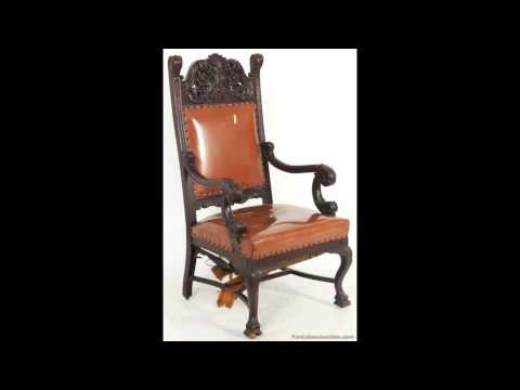 Antique Carved Oak Arm Chair | Antique Auction