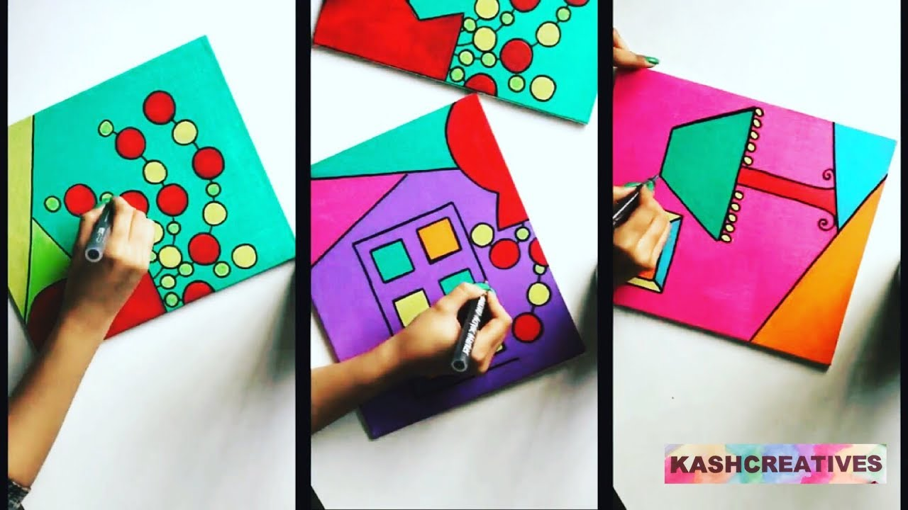 Bedroom DIY Canvas Art Colourful | Room Decor | Kash Creatives