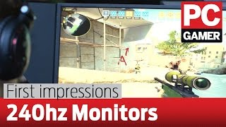 240Hz monitor first impressions — Does it really make a difference?