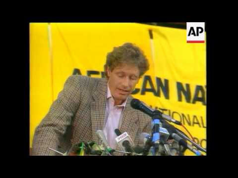 Nelson Mandela Addresses ANCs First Legal National Conference For More Than 30Yrs In Durban, ANC Lea