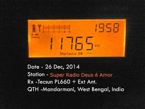 Super Radio Deus é Amor (Curitiba, Brazil) 11765 KHz, 26.12.2014