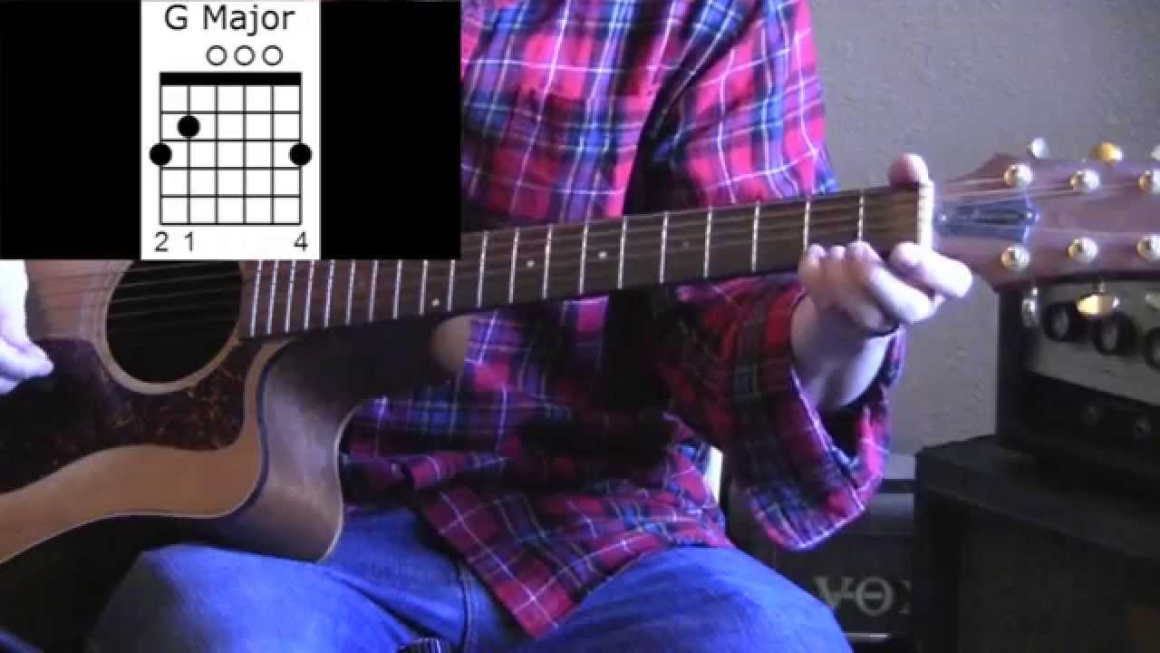 How To Play A G Chord Major On Guitar Youtube
