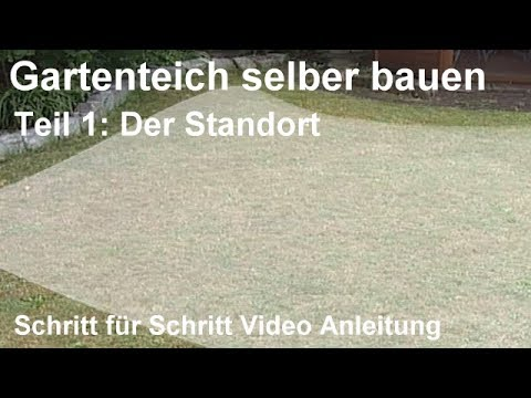 gartenteich selber bauen teil 1 der standort teich anlegen schritt f r schritt video. Black Bedroom Furniture Sets. Home Design Ideas