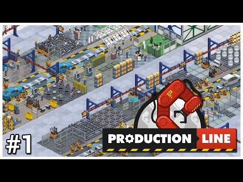 Production Line [Early Access] - #1 - Car Factory Tycoon - Let's Play / Gameplay / Construction