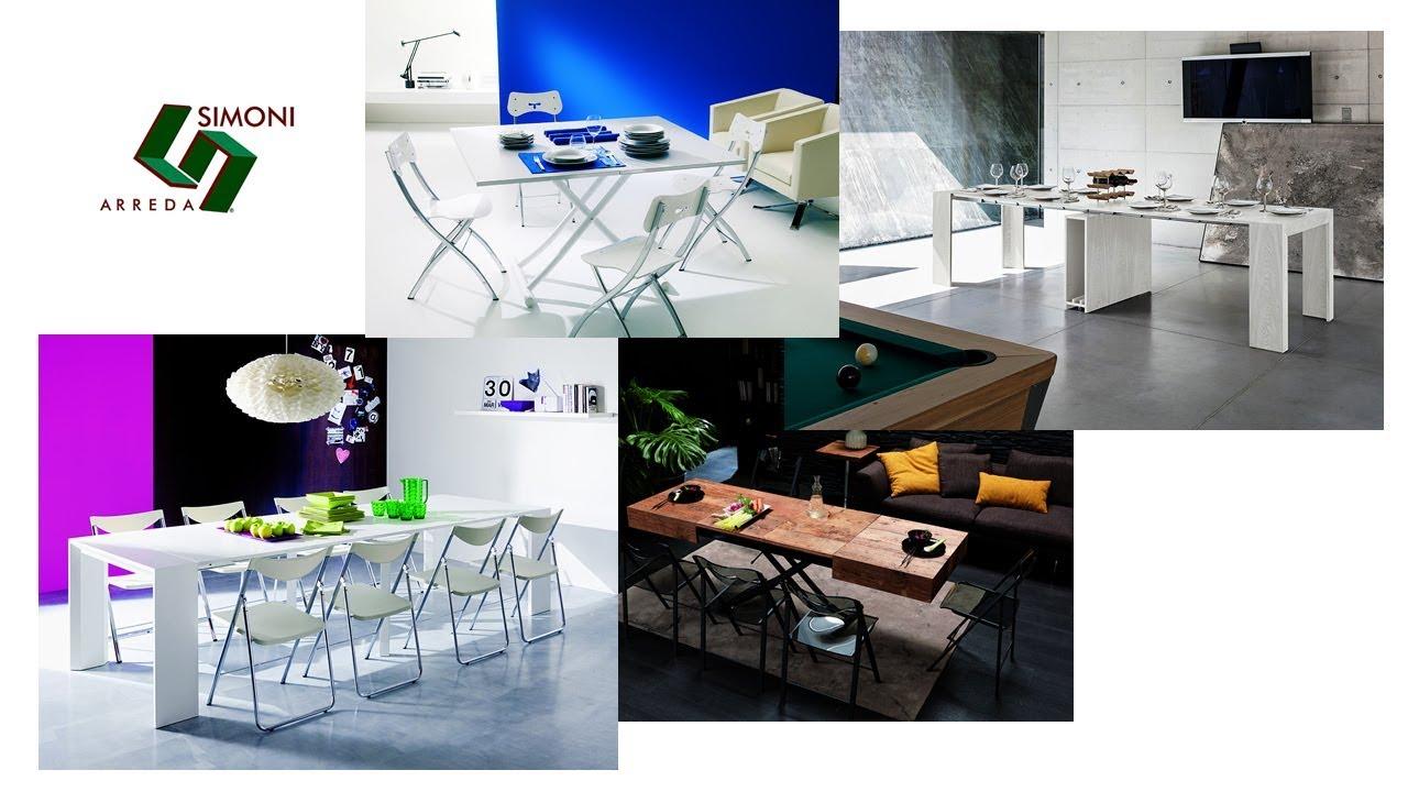 Tavoli a consolle tavolini trasformabili simoni arreda for Lideo arreda