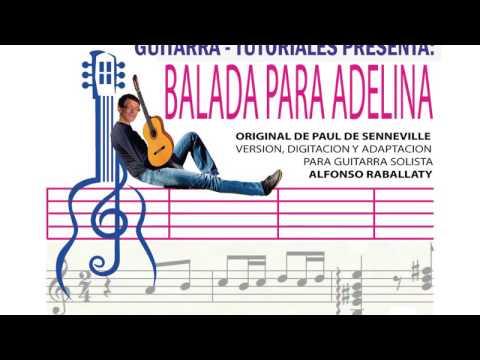 TUTORIAL BALADA PARA ADELINA GUITARRA PARTITURA Y TABS