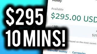 Earn $295.00 in 10 MINUTES! -  BEST Way To MAKE MONEY Online!