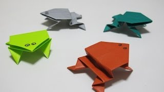 Origami - How to Make a Jumping Frog