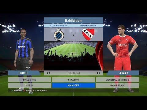 Club Brugge KV vs Independiente, Jan Breydel Stadion, PES 2016, PRO EVOLUTION SOCCER 2016