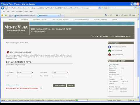 Prospect Portal   Online Leasing through Rental Living  1 Occupant