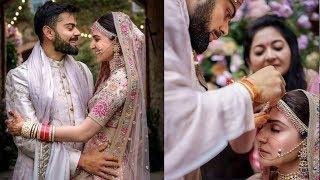 On 1st Wedding Anniversary Anushka Sharma and Virat Kohli shared unseen moments from wedding