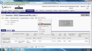 NetSuite ''جعل نسخ'' من خلال وظيفة BM على الانترنت