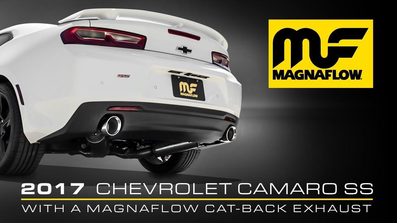 hear the sound 2016 2021 chevrolet camaro ss magnaflow cat back exhaust part 19358