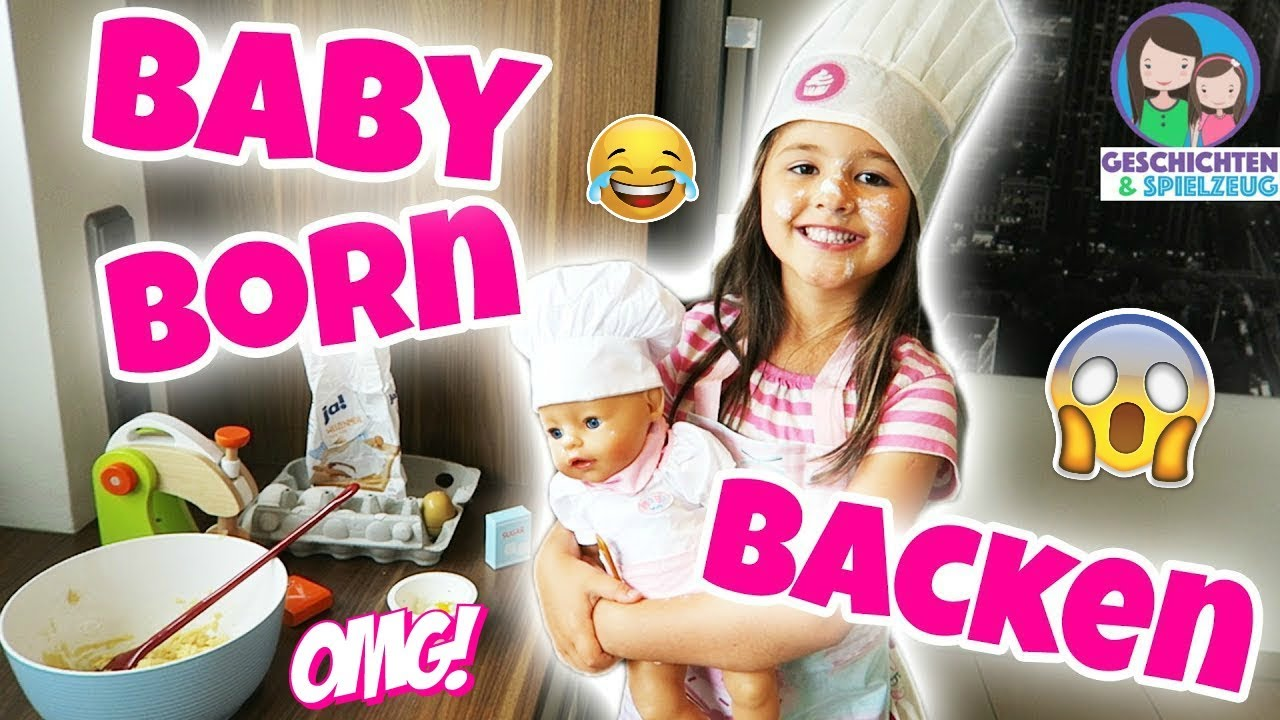 chaos beim backen mit baby born 6 j hrige ganz alleine in der k che ava als puppen mama youtube. Black Bedroom Furniture Sets. Home Design Ideas