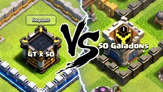 GENERAL TONY vs GALADON! ITS ON! 50 vs 50! - Clash Of Clans
