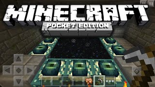 HOW TO MAKE AN END PORTAL IN MCPE! - 0.14.2/0.15.0 | Minecraft Pocket Edition BUILDING TUTORIAL!