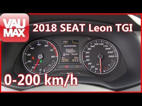 2018 Seat Leon TGI - Beschleunigung 0-200 km/h 110 PS Erdgas/CNG Tachovideo Acceleration 0-60mph