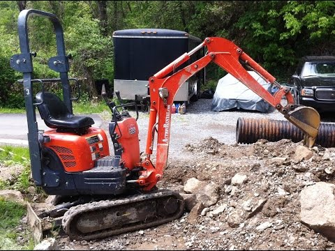 Mini Excavator at Work Time Lapse | 2 hours in 11 minutes | Kubota K008-3