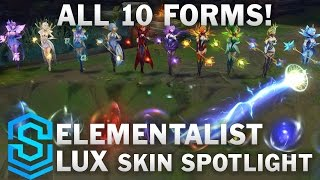 Elementalist Lux (Ultimate Skin!) Skin Spotlight - Pre-Release - League of Legends