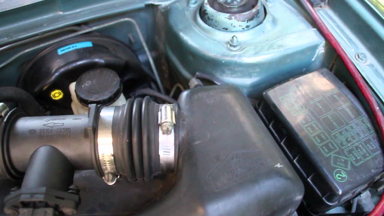 Hyundai Excel No Air Resonator And K Amp N Panel Filter Youtube