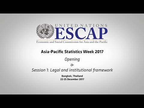 APESW2017: Opening & Session 1 - Legal and institutional framework