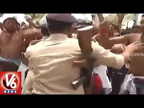 RJD Activists Attack On BJP Office In Patna || Bihar || V6 News