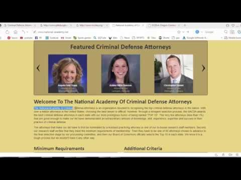 The National Academy Of Criminal Defense Attorneys  ON USA