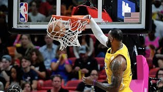 Lakers Give Heat 1st Home Loss of Seaso...