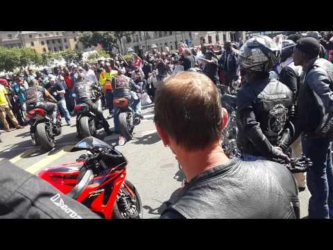 Bikers in SA give Madeba a biker send off