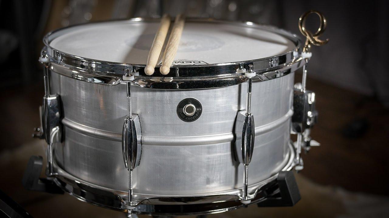 q drum co gentlemen 39 s series aluminum snare drum youtube. Black Bedroom Furniture Sets. Home Design Ideas