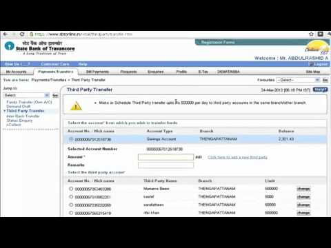 Sbi online banking (Part 2) Transfer money to other ban... | Doovi