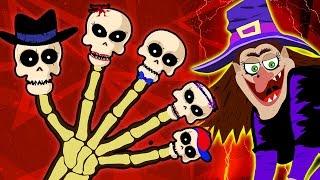 Halloween Spooky Finger Family | Spooky Nursery Rhymes | HooplaKidz Toons