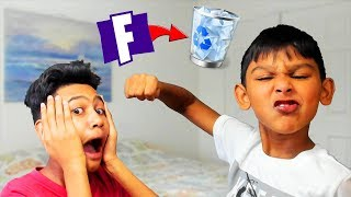 I Made My Little Brother a Fortnite Account... And Then Deleted It The Next Day! (HE BEAT ME UP)