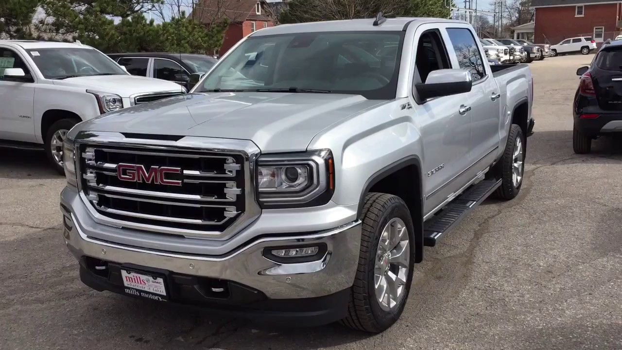2017 Gmc Sierra 1500 Slt 4wd Crew Cab Z71 Suspension Spray On Box Liner Oshawa Stock 170925