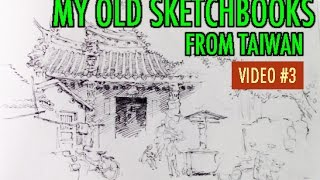 My Old Sketchbooks from Taiwan: The Way I Drew Back Then [VID 3]