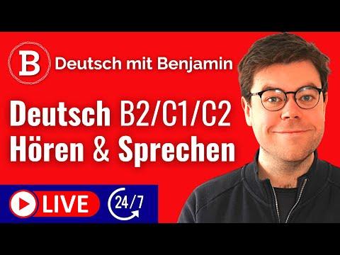 Deutsch lernen LIVE 24/7 🔴 Umgangssprache | Aussprachetraining | Deutsch B2 C1 C2