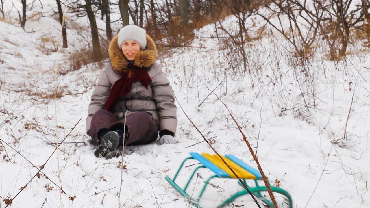 Лепим с Ликой снеговика-зайца/зима/снеговик, детские забавы .