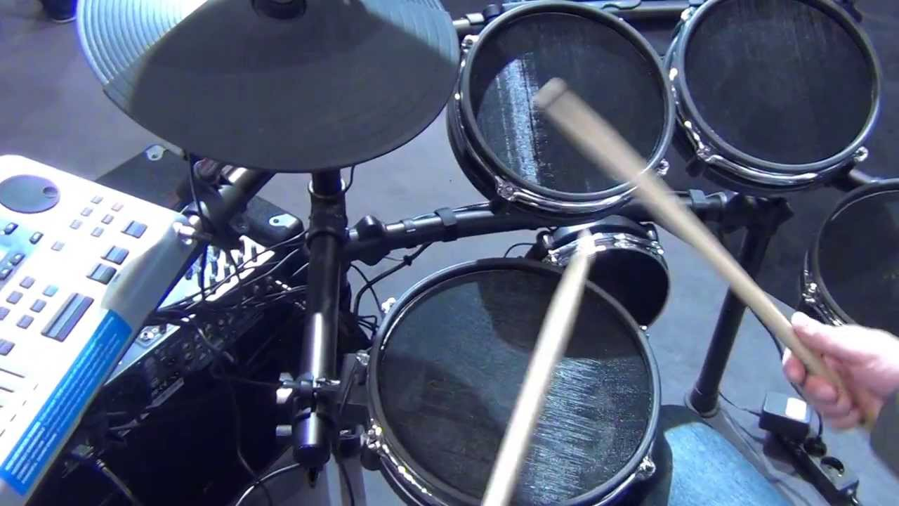 alesis dm10 studio kit mesh 2014 musikmesse youtube. Black Bedroom Furniture Sets. Home Design Ideas
