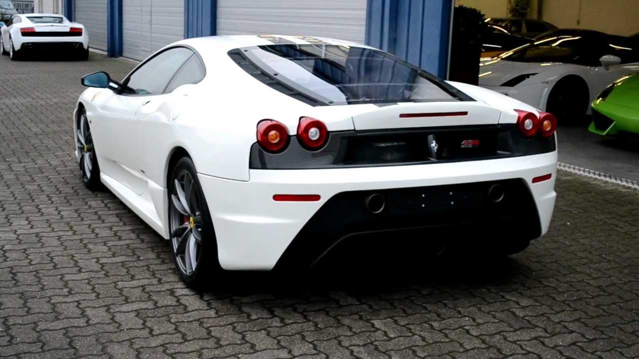 White Ferrari F430 Scuderia Loud Startup Sound Hd Youtube