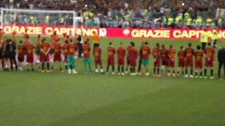 Inno Roma  Durante la Celebrazione- Roma-Genoa 3-2 Ultima di Totti - 28/05/2017 - Roma Roma Roma