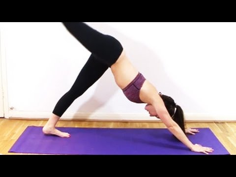 simple yoga exercises  lunge pyramid pose  warrior 3