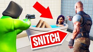 If You SNITCH You WIN! (Fortnite Hide And seek)