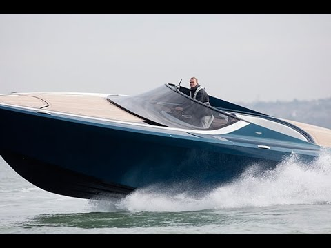 Aston Martin Speedboat Test Drive Am37 Review Motor Boat Yachting Youtube