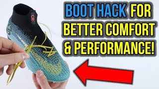 EASY LACING TIP FOR BETTER COMFORT AND PERFORMANCE! *FOOTBALL BOOT LIFE HACK!*