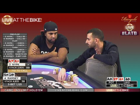 NY Poker King Put to the Test by Ramsey ♠ Live at the Bike!