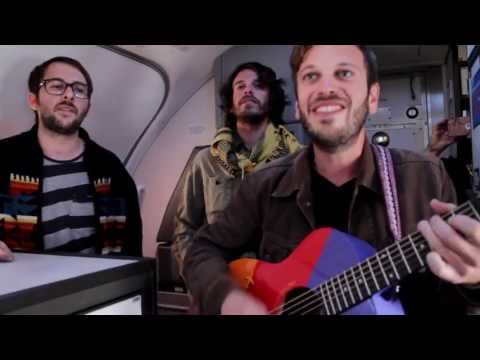 Good Old War performs Coney Island on a Southwest plane